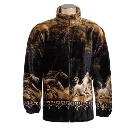 Mazmania Microplush Classic Zip Jacket (For Men and Women)