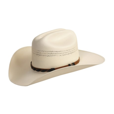 Bailey Brandon Hat - 20x Shantung Straw, Stockman Crown (For Men and Women)