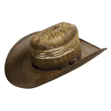 Bailey Sanders Hat - 4x Straw, Stockman Crown (For Men and Women)