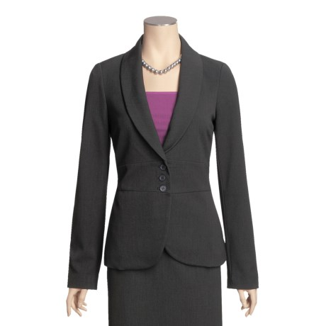 Atelier Luxe Shawl Collar Jacket (For Women)