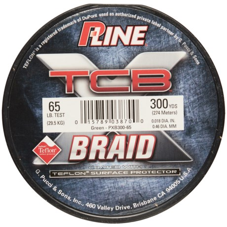 P-LINE P-Line TCB Teflon®-Coated Braided Fishing Line - 65 lb., 300 yds.