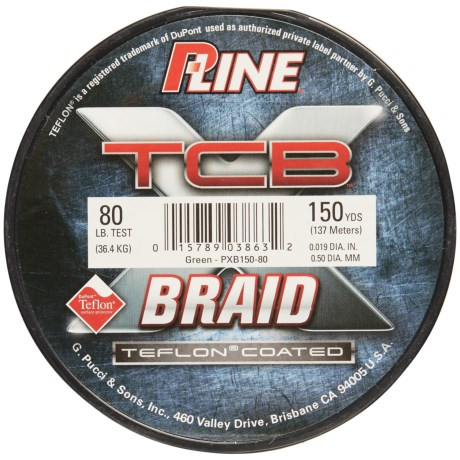 P-LINE P-Line TCB Teflon®-Coated Braided Fishing Line - 80 lb., 150 yds.