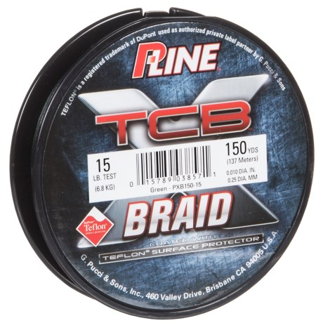 P-LINE P-Line TCB Teflon®-Coated Braided Fishing Line - 10-15 lb., 150 yds.