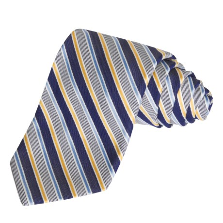 Altea Outlined Track Stripe Tie - Silk-Cotton (For Men)