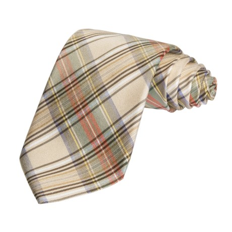 Altea Colorful Multi-Plaid Tie - Silk (For Men)