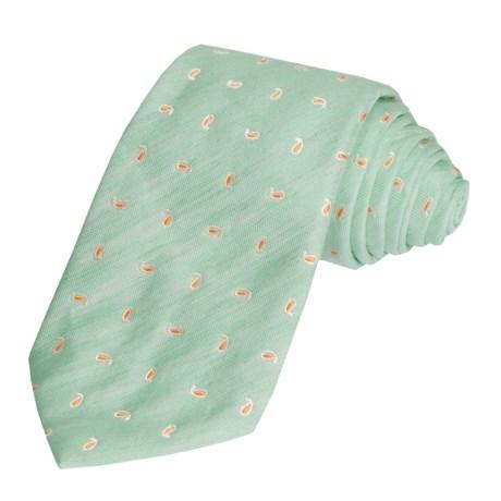 Altea Pine Tie - Linen and Silk (For Men)