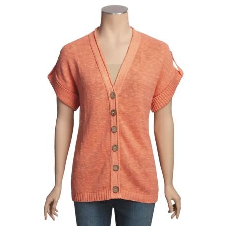 Avalin Slub Cardigan Sweater - Short Sleeve, V-Neck (For Women)