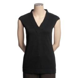 Avalin Cotton Knit Shirt - Short Sleeve (For Women)