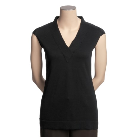 Avalin Cotton Knit Shirt - Short Sleeve (For Women)