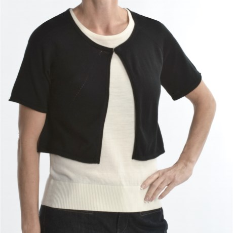 Avalin Cotton Cardigan Sweater - Shrug-Style, Short Sleeve (For Women)