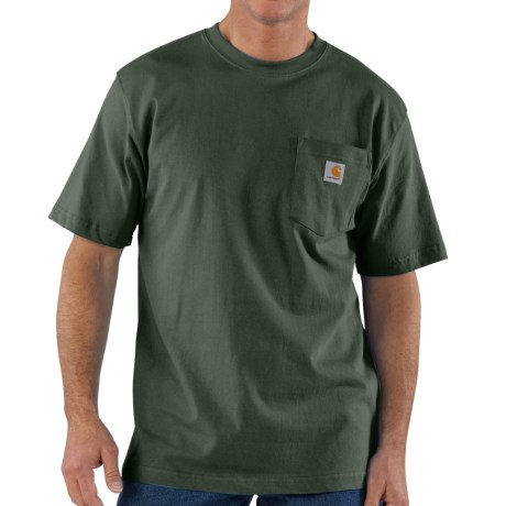 Carhartt Work Wear T-Shirt - Short Sleeve, Factory Seconds (For Tall Men)