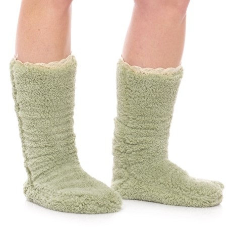 Anew Lemon Double-Shearling Bootie Slippers (For Women)
