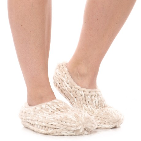 Anew Lemon Frostbite Bootie Slippers - Faux-Fur Lined (For Women)