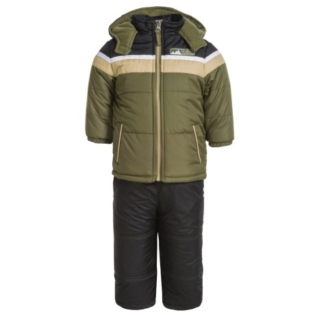 iXtreme Ski Den Color-Block Jacket and Snow Bibs - Insulated (For Infant Boys)