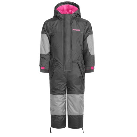 Pink Platinum Snowmobile Suit - Insulated (For Toddler Girls)
