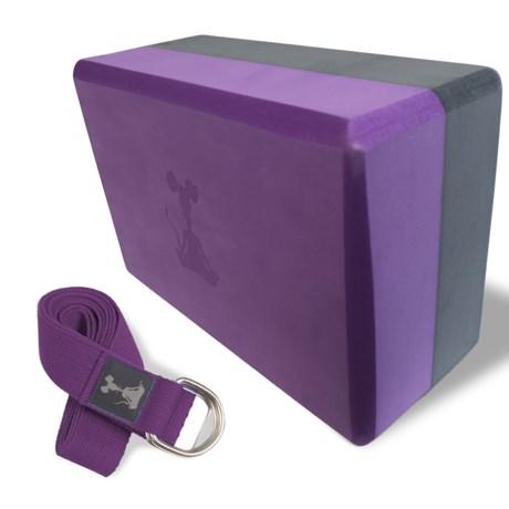 YogaRat Yoga Strap and Yoga Block Set
