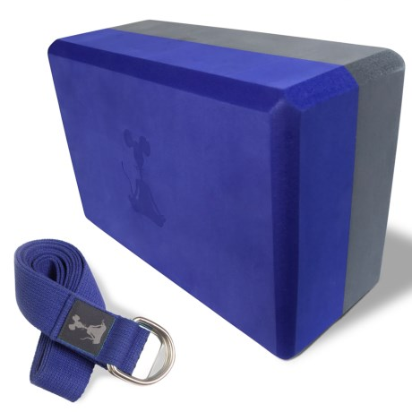 YogaRat Yoga Strap and Yoga Block Set