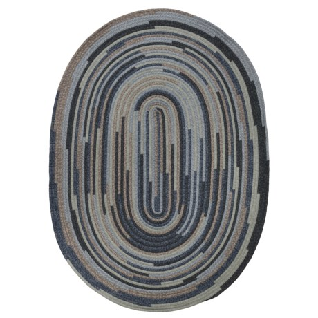 Colonial Mills Braided Oval Area Rug - 8x10'