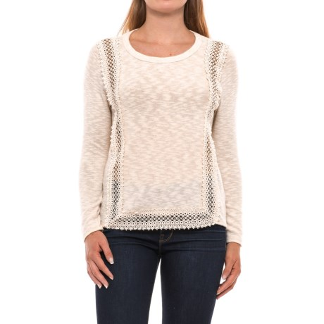 Specially made Crochet-Trim Shirt - Long Sleeve (For Women)