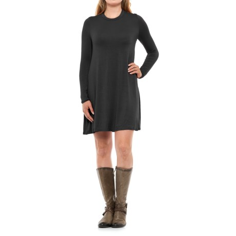 Specially made High Neck Dress - Rayon, Long Sleeve (For Women)