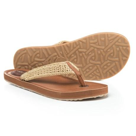 Sakroots Bamboo Flat Flip-Flops (For Women)