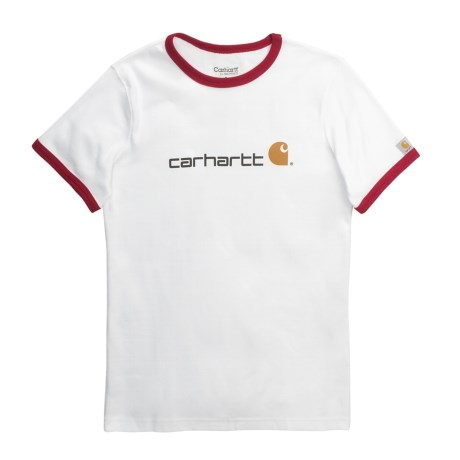 Carhartt Ringer Logo T-Shirt - Short Sleeve (For Women)