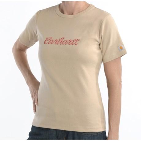 Carhartt Script Logo T-Shirt - Short Sleeve (For Women)
