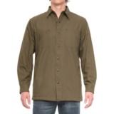 Backpacker Cotton Canvas Shirt Jacket - Fleece Lined (For Men)