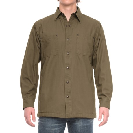 Backpacker Cotton Canvas Shirt Jacket - Fleece Lined (For Men)