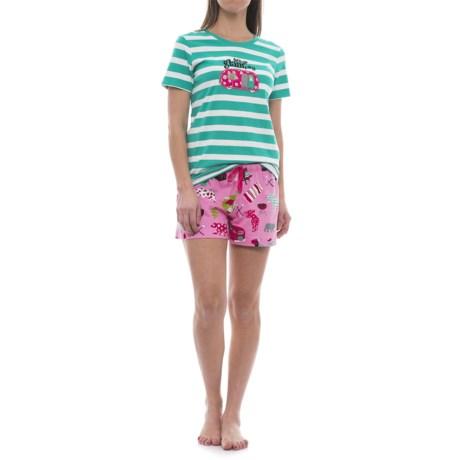 Little Blue House Glamping Pajamas - Short Sleeve (For Women)