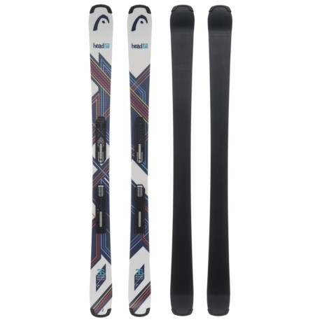 Head Residue SLR 2 Skis with SLR 7.5 AC Ski Bindings (For Little and Big Kids)