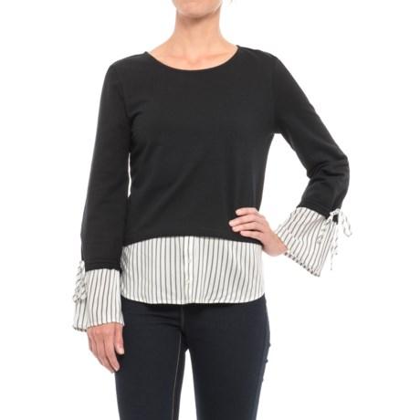 Alexander Jordan French Terry Two-Fer Shirt - Long Sleeve (For Women)