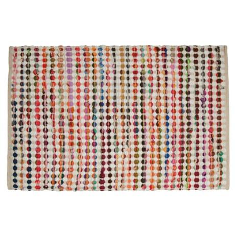 """Timbuktu Rana Chindi Rug - 24x36"""", Cotton-Wool Blend"""