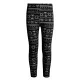 Poof Fleece-Lined Printed Leggings (For Girls)