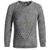 Poof Chenille Yarn Sweater - Crew Neck (For Girls)