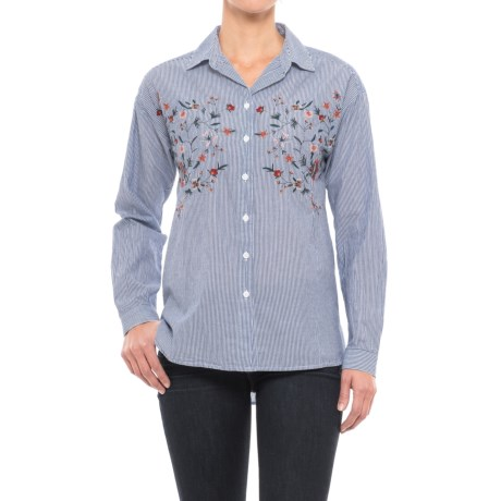 Beach Lunch Lounge Lena Embroidered Shirt - Long Sleeve (For Women)