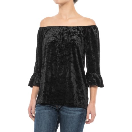Beach Lunch Lounge Pamela Peasant Blouse - 3/4 Sleeve (For Women)