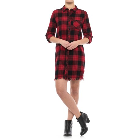 Beach Lunch Lounge Aidra Flannel Shirt Dress - Long Sleeve (For Women)