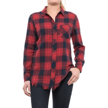 Beach Lunch Lounge Elyse Flannel Shirt - Long Sleeve (For Women)