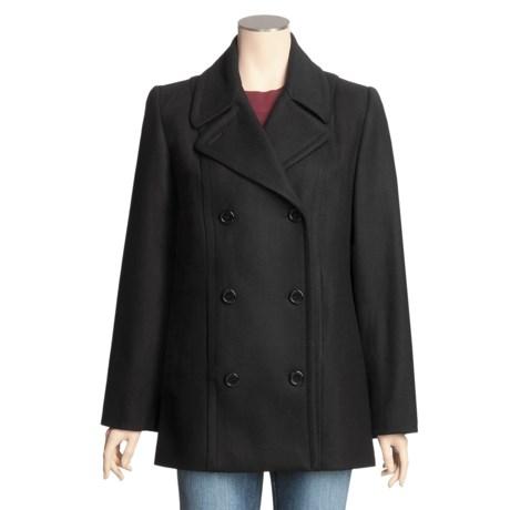 Monroe & Main Lambswool Blend Pea Coat - Plus Size (For Women)