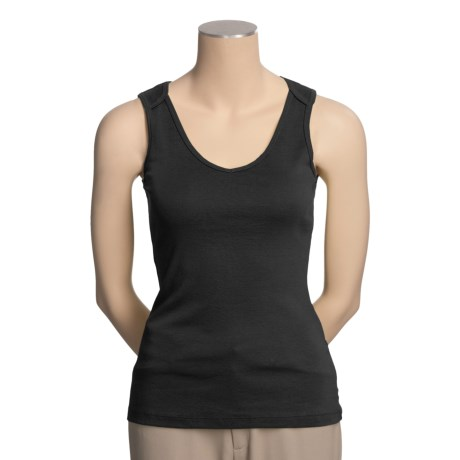 Lilla P Lap Cotton Tank Top - V-Neck (For Women)