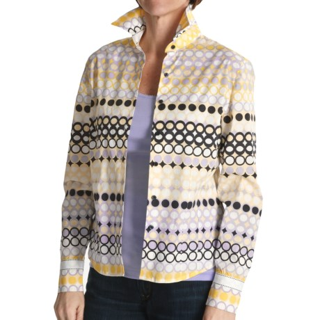 Tyler Boe Dot Print Shirt - Stretch Cotton, Long Sleeve (For Women)