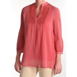 Tyler Boe Sequined Cotton Shirt - 3/4 Sleeve (For Women)