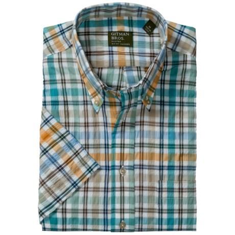 Gitman Brothers Seersucker Sport Shirt - Short Sleeve (For Men)