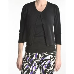 Tyler Boe Pima Cotton Cardigan Sweater - Button Front, 3/4 Sleeve (For Women)