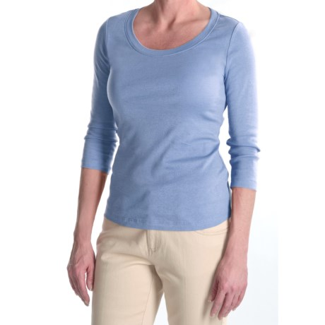 Tyler Boe Cotton Knit Shirt - Scoop Neck, 3/4 Sleeve (For Women)