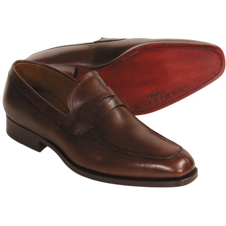 Eduardo G. Dominick Shoes - Leather, Penny Loafers (For Men)