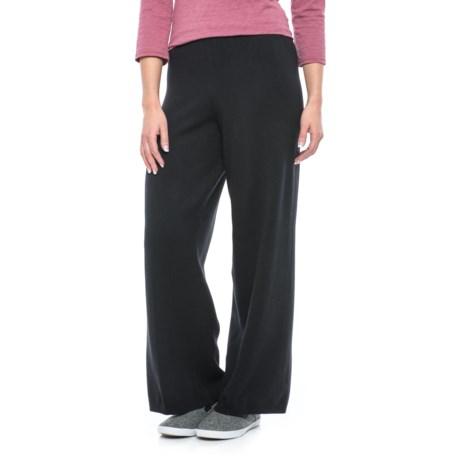 Joan Vass Knit Crop Pants (For Women)