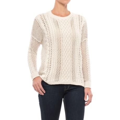 JACHS NY Crocheted Oversized Sweater - Semi Sheer (For Women)
