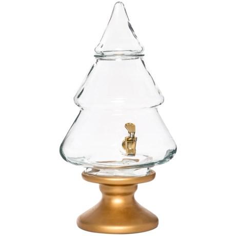 Circle Glass Circleware Christmas Tree Glass Beverage Dispenser - 2.1 Gallons